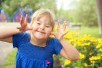 disabled girl having fun outside